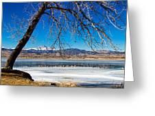 Twin Peaks Blue Greeting Card