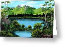 Twin Ponds Greeting Card
