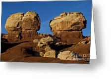 Twin Rocks Capitol Reef National Park Utah Greeting Card