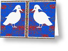 Twin Souls Love Birds Snow White Color Greeting Card