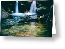 Twin Waterfall Greeting Card