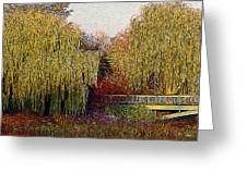 Twin Willows Greeting Card
