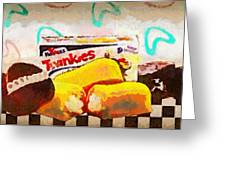 Twinkies Cupcakes Ding Dongs Gone Forever Greeting Card