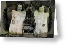 Twins Julia And Jim Cannon Circa 1903 Greeting Card
