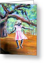 Twirl Under The Oaks Greeting Card