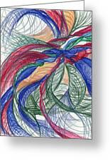 Twirls And Cloth Greeting Card by Kelly K H B