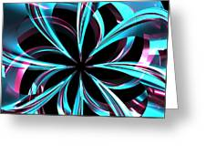 Twisted Blue Greeting Card