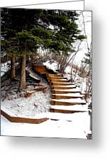 Twisted Staircase Greeting Card
