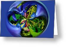 Twisting Orb Greeting Card