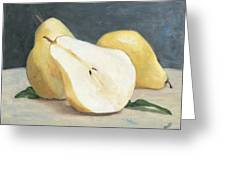 Two And A Half Pears Greeting Card