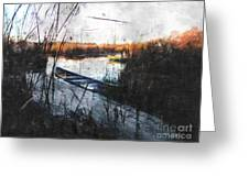Two At The Dock Greeting Card