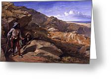 Two Bandits In The Hills, 1857 Greeting Card