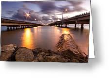 Two Bridges #1 Greeting Card