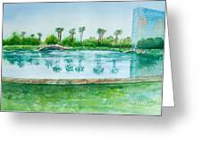 Two Bridges At Rainbow Lagoon Greeting Card
