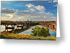 Two Bridges Greeting Card