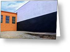 Two Buildings Greeting Card