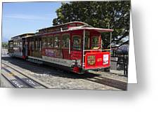 Two Cable Cars San Francisco Greeting Card