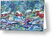 Two Canoes - Sold Greeting Card
