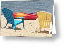 Two Chairs And A Boat Greeting Card