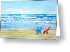 Two Chairs At The Beach Greeting Card