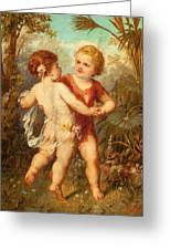 Two Cherubs Greeting Card