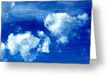 Two Clouds In The Sky Greeting Card