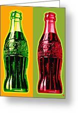 Two Coke Bottles Greeting Card
