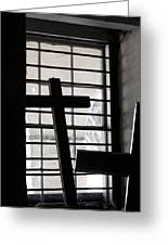 Two Crosses Greeting Card