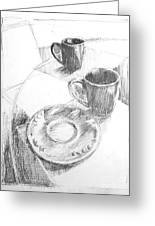 Two Cups And A Saucer Greeting Card