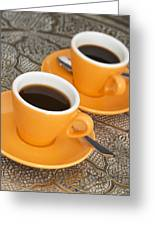 Two Cups Of Espresso Greeting Card