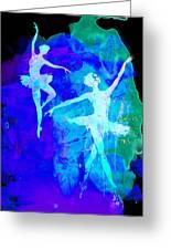 Two Dancing Ballerinas  Greeting Card