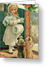 Two Dogs Prepare To Accompany Greeting Card