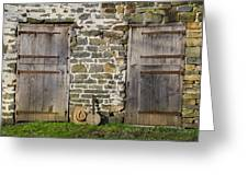 Two Doors On A Barn Greeting Card