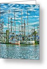 Two Fishing Boats Hdr Greeting Card