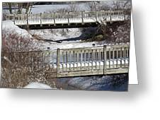 Two Foot Bridges Greeting Card