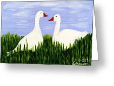 Two Geese Greeting Card