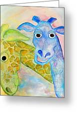 Two Giraffes Greeting Card by Shannan Peters
