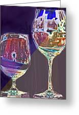 Two Glasses  Greeting Card
