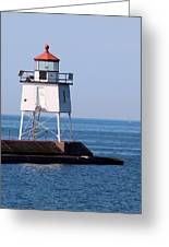 Two Harbors Breakwater Lighthouse Greeting Card