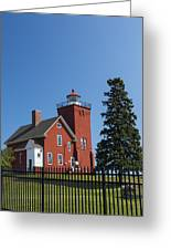 Two Harbors Mn Lighthouse 24 Greeting Card