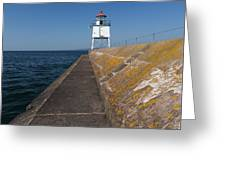 Two Harbors Mn Pier Light 11 Greeting Card