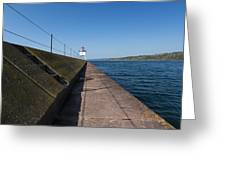 Two Harbors Mn Pier Light 14 Greeting Card