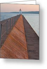 Two Harbors Mn Pier Light 6 Greeting Card