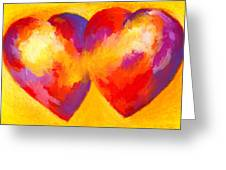 Two Hearts Beat As One Greeting Card