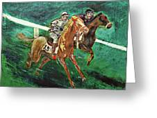Two Horse Race Greeting Card