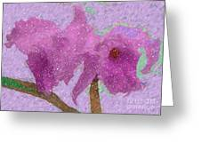 Two Hothouse Beauties Greeting Card
