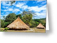 Two Indigenous Huts Greeting Card