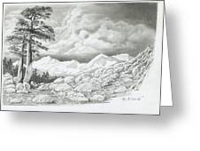 Two Junipers - Starr Mountain Greeting Card