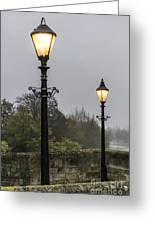 Two Lamps Greeting Card