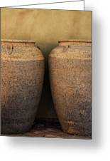 Two Large Garden Urns Greeting Card